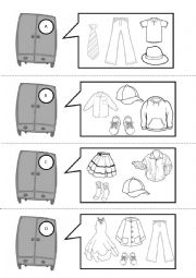 English Worksheet: have you got....?  CLOTHES, 2 PAGES