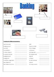 English Worksheet: Banking