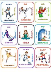 English Worksheet: Sports Go fish 1