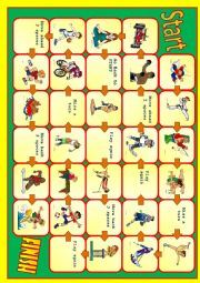English Worksheet: Sport board game