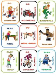 English Worksheet: Sports Go fish 2