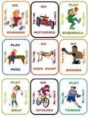 English Worksheet: Sports Go fish 2