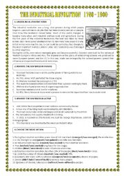 english worksheets passives the industrial revolution. Black Bedroom Furniture Sets. Home Design Ideas