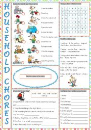 Household Chores Vocabulary Exercises