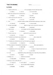 English Worksheet: C2 Vocabulary Test 2
