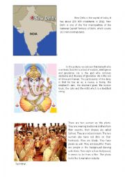 English Worksheet: Most famous things about India