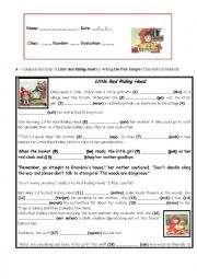 English Worksheet: Little Red Riding Hood ( 7th test)
