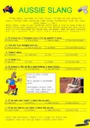 English Worksheet: Australian Slang