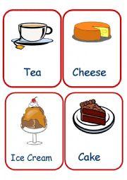 English Worksheet: Food Flashcards set 2