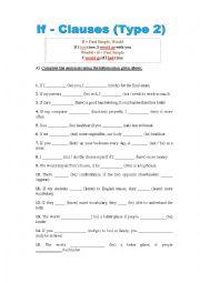 English Worksheet: If-clauses Type 2
