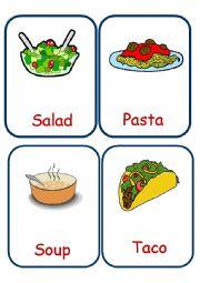 English Worksheet: Food  Flashcards set 3