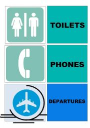 SIGNALS AT THE AIRPORT HIGH DEFINITION FLASHCARDS
