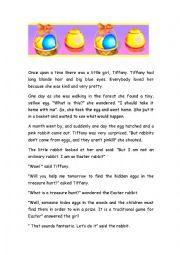 An Easter rabbit