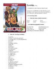 English Worksheet: Eurotrip - watch and learn English!