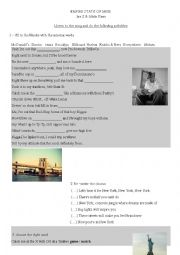 English Worksheet: SONG - Empire state of mind Jay Z and alicia Keys