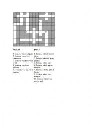 English Worksheet: Personality Adjectives Crossword