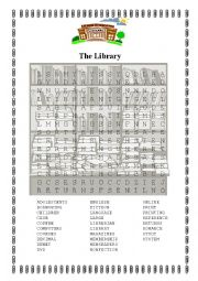 English Worksheet: The Library
