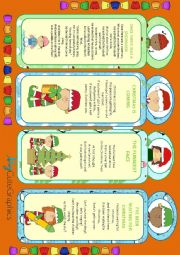 English Worksheet: XMAS BOOKMARKS WITH CHILDREN�S POEMS