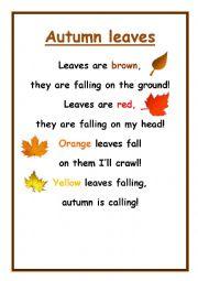 Autumn Leaves - Poem by David Wood