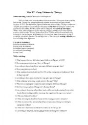 English Worksheet: Video Clip: Gangs in Chicago
