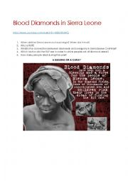 English Worksheet: Blood Diamonds - Civil War in Sierra Leone