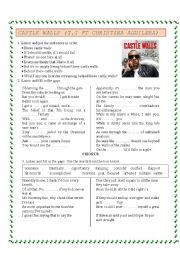 English Worksheet: Castle Wall  by TI ft Christina Aguilera