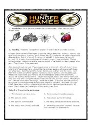 Hunger Games True False Reader