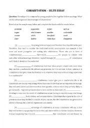 English Worksheet: IELTS Essay - Cohabitation