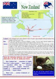English Worksheet: New Zealand (multi-activity worksheet)