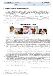 English Worksheet: 11th Grade Reading and Writing - The world of work