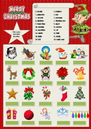 English Worksheet: Christmas vocabulary