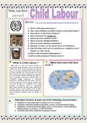 Child labour Slideshow + AUDIO