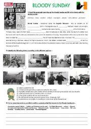 English Worksheet: Bloody Sunday