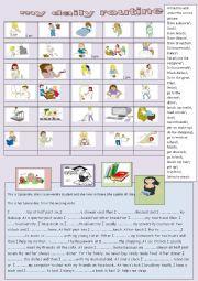 English Worksheet:  my daily routine