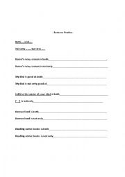English Worksheet: Sentence Practice: Neither..nor/Either..or/Both...and/Not only...., but