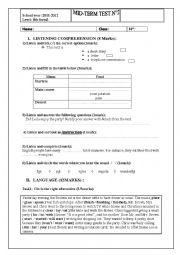 8th form mid term test n 2