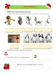 English Worksheet: Merry Madagascar