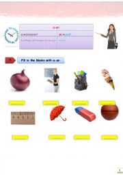 classroom a-an