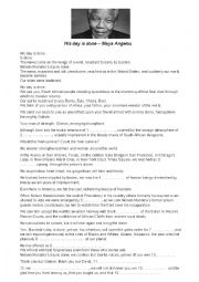English Worksheet: His Day is Done - Tribute to Nelson Mandela