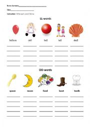 digraphs oo and ll