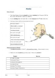 English Worksheet: What is Alaska - For German Automachanic Students