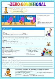 English Worksheet: Zero conditional - lesson and Activities