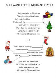 English Exercises: All I want for Christmas is you (Christmas ...