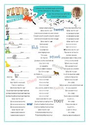 English Worksheet: Song �What does the fox say?�