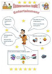 CONVERSATION TOPICS: ENTERTAINMENT