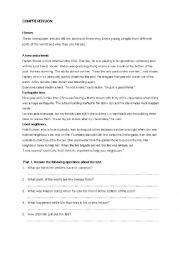 English Worksheet: My Hero