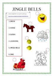 English Worksheet: Jingle Bells from Super Simple Songs