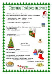 English Worksheet: Christmas Traditions in Britain