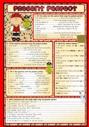 English Worksheet: PRESENT PERFECT SIMPLE