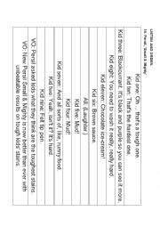 English Worksheet: Radio commercial